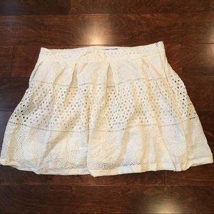Banana Republic Eyelet Lace Skirt